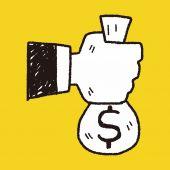 Doodle money — Stock Vector