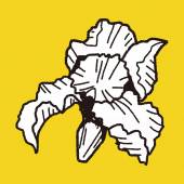 Flower doodle — Stockvector
