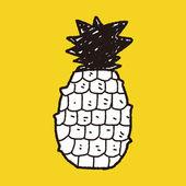 Ananas-doodle — Stockvektor