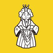 Queen doodle — Stock Vector