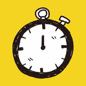 Time doodle — 图库矢量图片