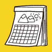 Calendar doodle — Stock Vector