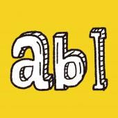 Type abc doodle — Stockvektor