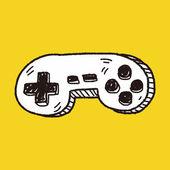 Gamepad de la doodle — Vector de stock