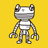 Robot doodle — Stockvector