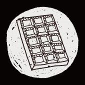 Chocolate doodle — Stock Vector