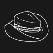 Doodle hat — Stock Vector