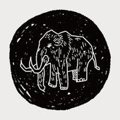 Mammoth doodle — Stock Vector