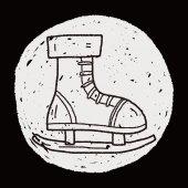 Doodle Skates — Stock Vector