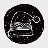 Winter hat doodle — Stock Vector