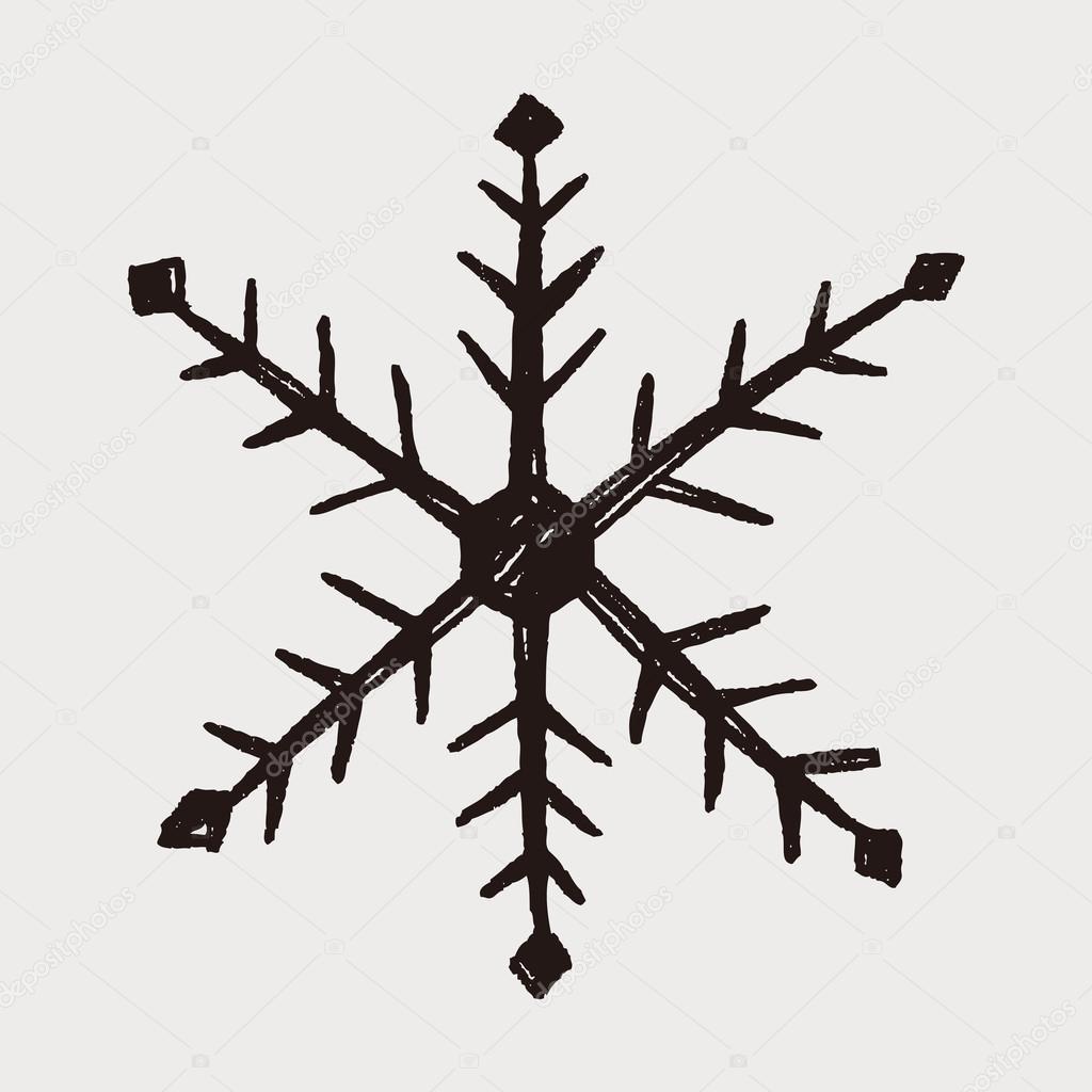 Snowflake Doodle Set. Illustration. Stock Vector - Image: 47191020
