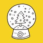Snow ball doodle — Stock Vector #73209055