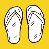 Flip flop doodle — Stock Vector