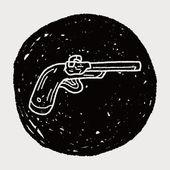 Doodle de arma — Vector de stock