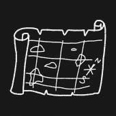 Treasure Map doodle — Cтоковый вектор