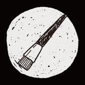 Doodle Brush — Stock Vector