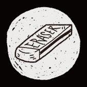 Doodle guma — Stock vektor