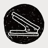 Stapler doodle — Stock Vector