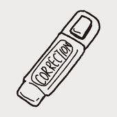 Correction pen doodle — Stock Vector