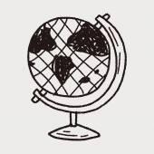Doodle globe — Stock Vector