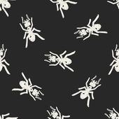 Ant doodle seamless pattern background — Stock Vector