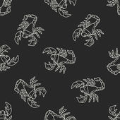 Scorpion doodle seamless pattern background — Stock Vector