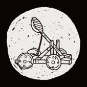 Trebuchet doodle — Stock Vector