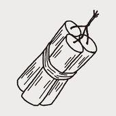 Bomb doodle — Stock Vector
