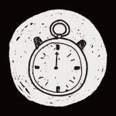 Stopwatch doodle — Stock Vector