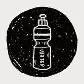 Sport water drink doodle — Stock Vector