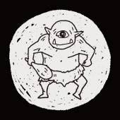 Giant ogre doodle — Stock Vector