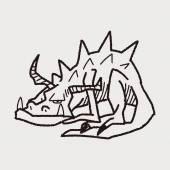 ドラゴン落書き — ストックベクタ