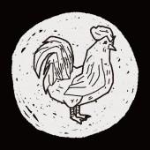 Chicken doodle — Stock Vector