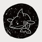 Shark doodle — Stock Vector