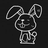 Rabbit doodle — Stock Vector