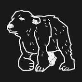 Polar bear doodle — Stock Vector