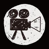 Doodle Video recorder — Stock Vector