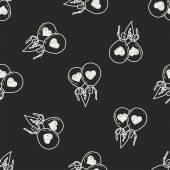 Love balloon doodle seamless pattern background — Vector de stock