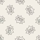 Lol doodle seamless pattern background — Stock Vector