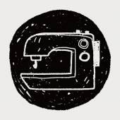 Máquina de coser doodle — Vector de stock