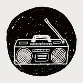 Doodle di radio — Vettoriale Stock