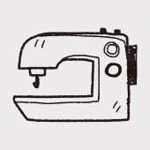 Naaimachine doodle — Stockvector