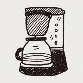 コーヒー メーカーの落書き — ストックベクタ