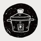 Cooker doodle — Stock Vector