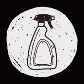 Cleaner bottle doodle — Stock Vector