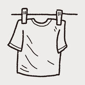 Clothesline doodle — Stock Vector