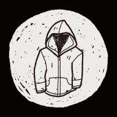 Doodle del cappotto — Vettoriale Stock