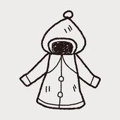 Coat doodle — Stock Vector