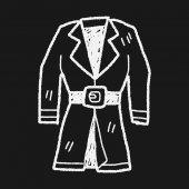 Overcoat doodle — Stock Vector