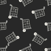 Delivery doodle seamless pattern background — Stockvektor